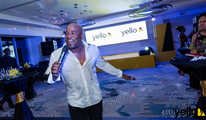 Image of Teddyson John bringing down the house at the Yello Customer Appreciation & Celebration event.