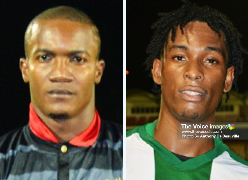 Image: (L-R) Two newly-transferred players Bradley Tisson and Antonio Joseph will come out in Uptown Rebels outfit. (PHOTO: Anthony De Beauville)