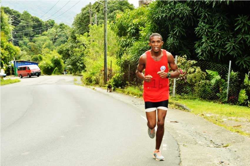 Image of Ange Fontinelle at the recently held Sir Arthur Lewis Community College 6K Road Race