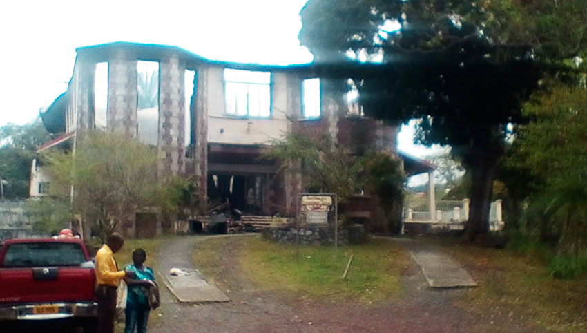 Image of the aftermath of the Folk Research Centre (FRC)