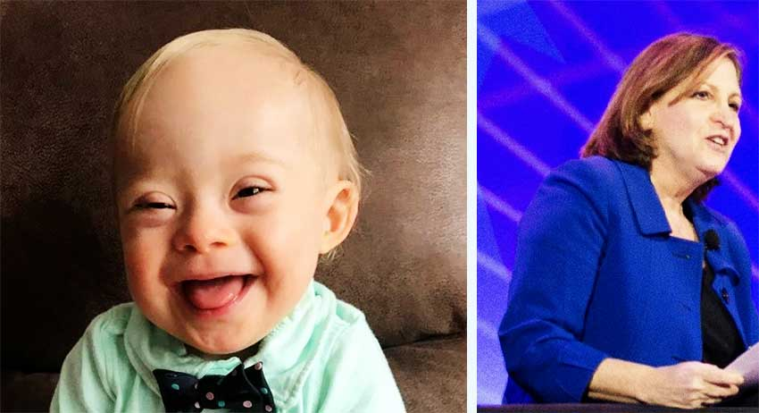 Image: Gerber baby Lucas Warren (1) has Down syndrome WAPO Deputy, editorial page editor Ruth Marcus would have aborted him had she been his mother.