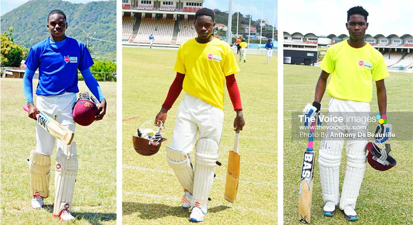 Image: (L-R) Jehan Boodha (Gros Islet), Qwaine Henry (Babonneau) and Ray Joseph ( Vieux Fort) (Photo: Anthony De Beauville)