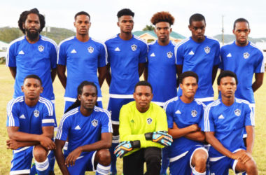 Image: Platinum FC (left) and VSADC (at right) are both on 12 points. However Platinum FC has a superior goal difference of +7. (PHOTO: Anthony De Beauville)