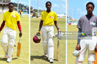 Image: (L-R)Qwayne Henry, Ryan Goodman (Babonneau), Hanif Antoine (Choiseul) (PHOTO: Anthony De Beauville)