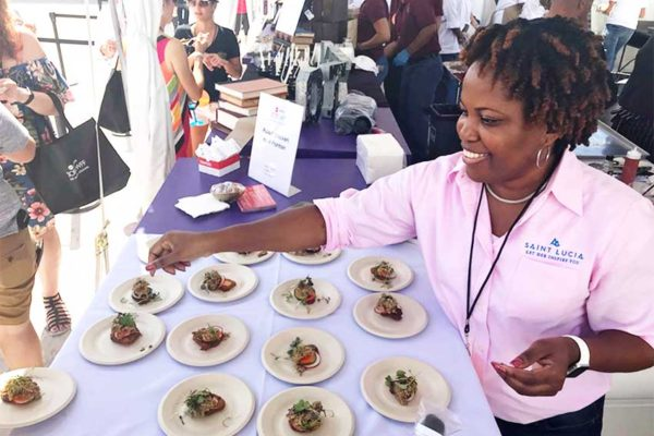 Image of SLTA Kelly Fontenelle-Clarke at SOBEWFF.
