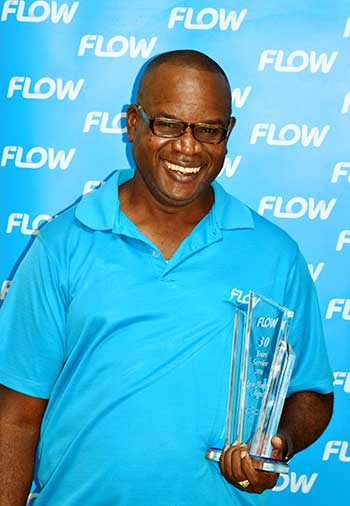 Image: Technical Supervisor (South) Mandel Auguste celebrated a massive landmark with his 30 years of service at Flow