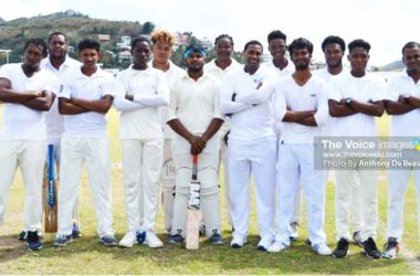 Image: Vieux Fort North 2018 Division 1 cricket team. (PHOTO: Anthony De Beauville)
