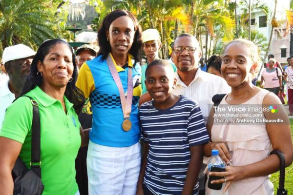 Image: A proud moment for Levern Spencer and family members. [PHOTOS: Anthony De Beauville]