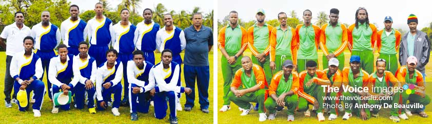 Image: (L-R) Babonneau U19s all set to take on Touring United .(Photo: Anthony De Beauville)