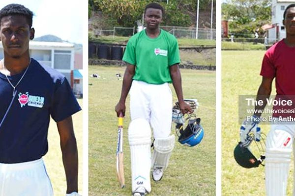 Image: Johnnel Eugene (Central Castries), AlvinusCallendar (South Castries), Anthony Cadet (Anse la Raye). (PHOTO: Anthony De Beauville)