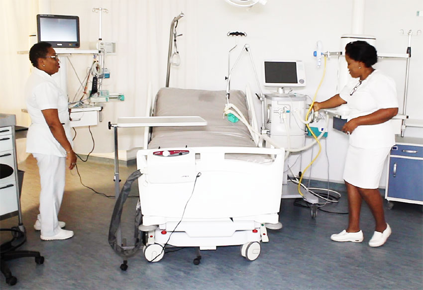 Image: Nurses attached to the ICU unit at the Victoria Hospital participated in a two day medical enhancement training which forms part of the commissioning programme of the Owen King EU Hospital. The training was conducted by medical personnel from the University Hospital in Martinique.