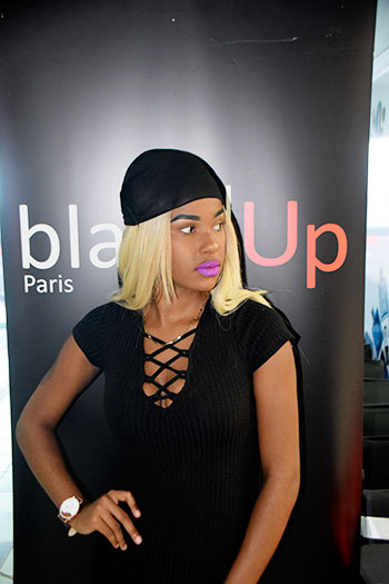 Image: One of the participants at the black up Master class