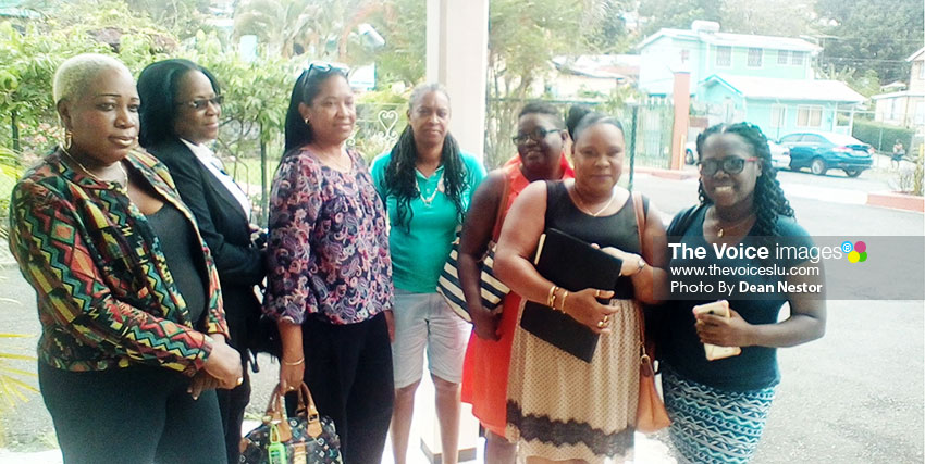 Image: Past students of Girls Vocational School following the presentation at Marian Home. [PHOTO: Dean Nestor]
