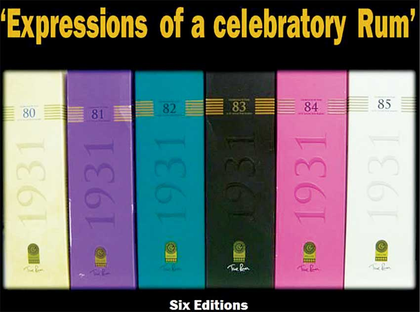 Image: Six Editions Of 1931 on display in ascending order.