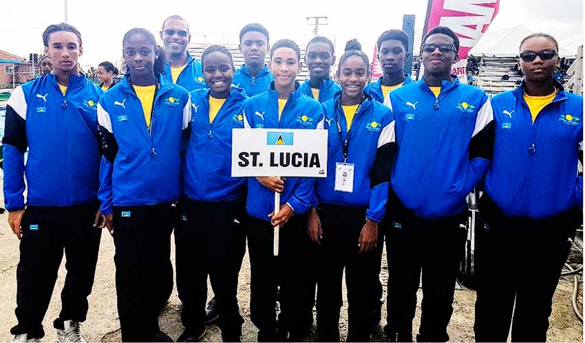 Image: Team Saint Lucia at the CARIFTA Games. (PHOTO: SLASA)