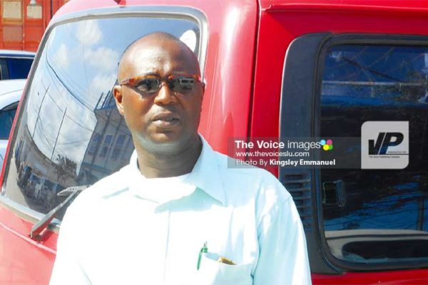 Image: Peter Richards, President of the Mon Repos Minibus Association (Route I), said he would opt for a rebate because it would be of much more benefit to them than an increase in bus fare. (PHOTO: Kingsley Emmanuel)