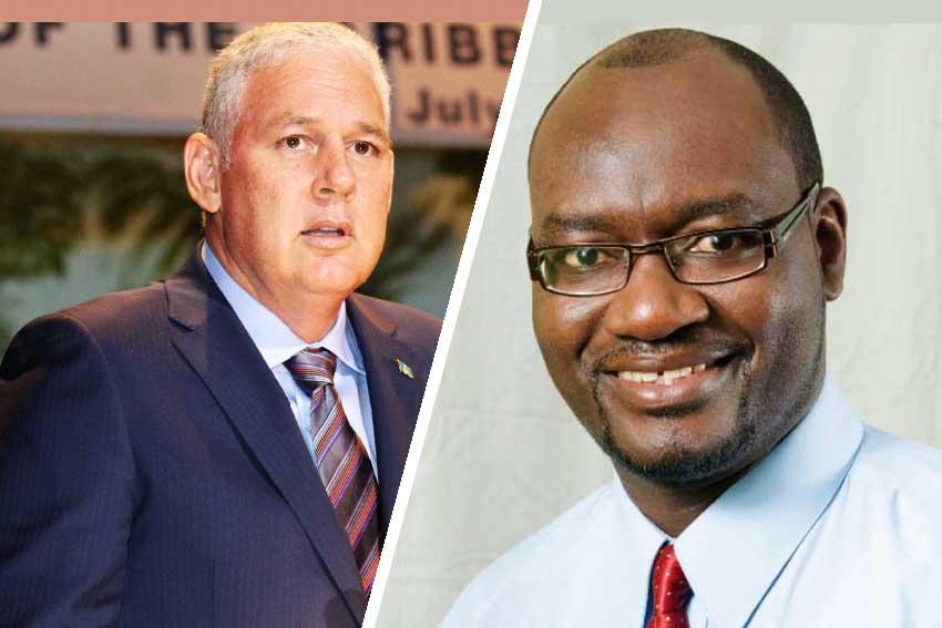 Image of Prime Minister Allen Chastanet & Moses 'Musa' Jn Baptiste