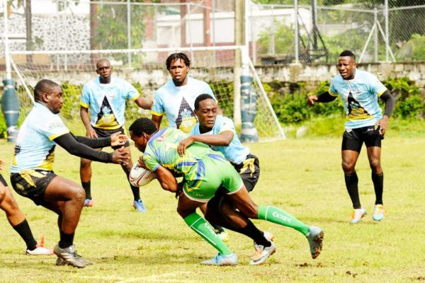 Image: Some of the fierce battle between Saint Vincent and the Grenadines and Saint Lucia (Photo: DP)