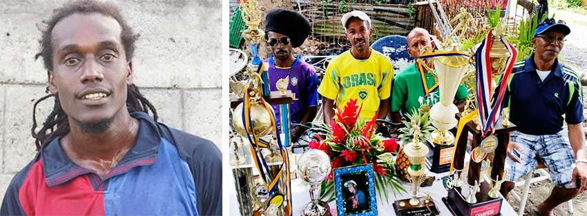 Image: (L-R) TafariCharlemange; friends paying tribute to their late Tafari'. (PHOTO: LCFL)