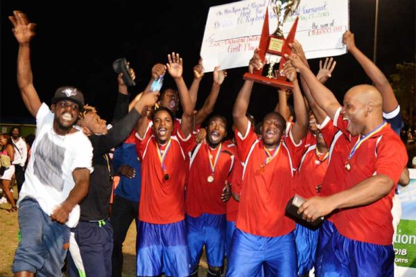 Image of Champion, Patience Youth Organisation (PYO) in celebratory mood. (PHOTO: Anthony De Beauville)