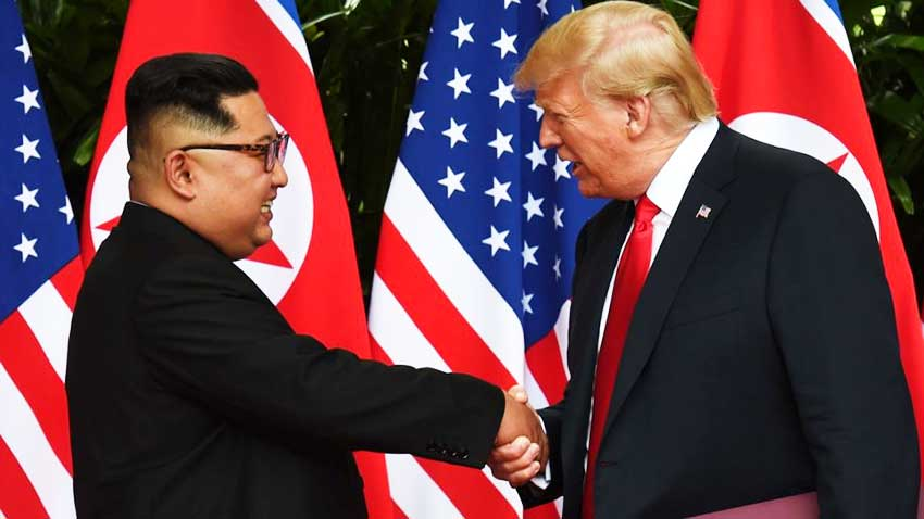 Image of US President Donald Trump and North Korean President Kim Jong-un