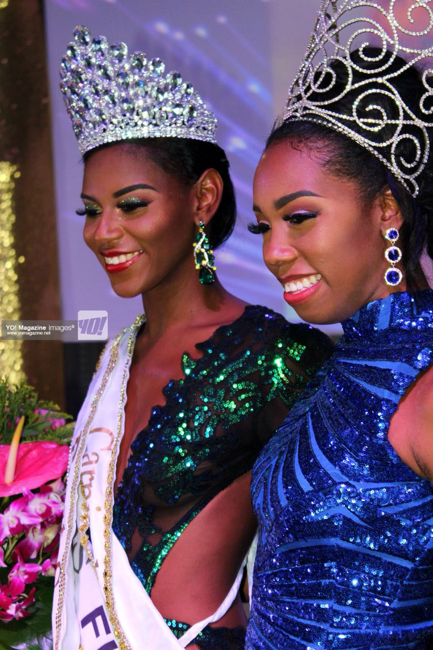 Image of 2017 National Carnival Queen Chancy Fontenelle & newly crowned Queen Ms. F.I.C.S Earlyca Fredrick