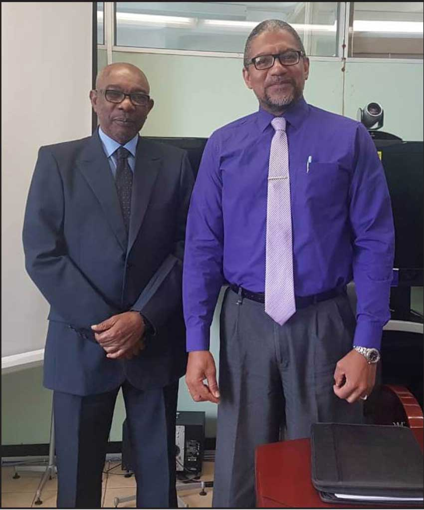 IMG: DG Marie with Minister Felix