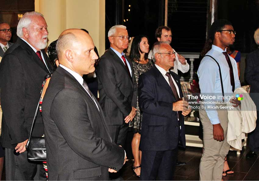 Image: Some of the Ambassador's specially invited guests at Monday night's reception.