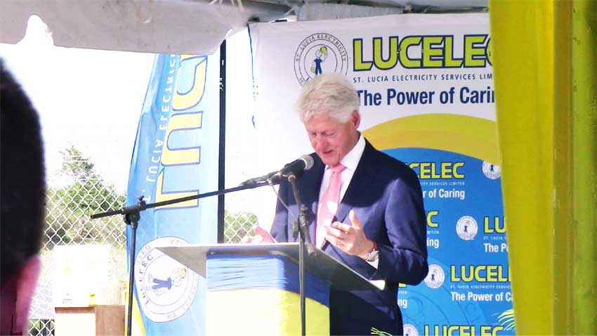 Image: Clinton Calls St. Lucia Caribbean's Clean Energy Leader at Solar Farm Launch