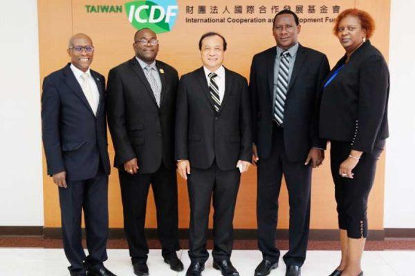 Image: (Left to Right): Saint Lucia's Ambassador to Taiwan Edwin Laurent, Minister Epiphane, ICDF Deputy Secretary-General Dr.Pai-Po Lee, Minister Montoute and Mrs Montoure (Photo Courtesy:ICDF)