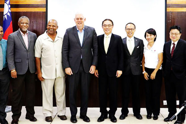 Image of PM Chastanet, Ambassador Shen and Cabinet Ministers with Taiwanese officials at Union yesterday.