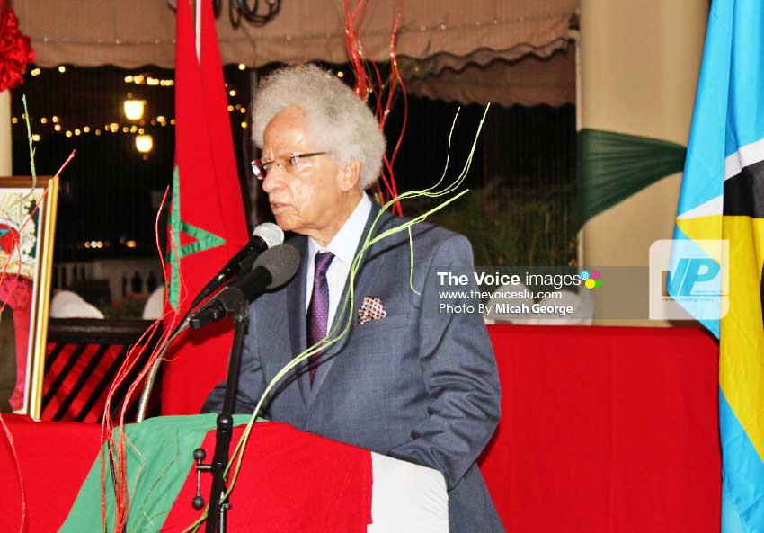 Image: His Excellency Governor General Sir Neville Cenac looking back on his early relations with Morocco