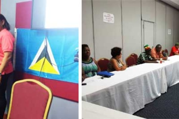 Image: The Cuban Ambassador and the President (left) and members at the AGM (right) at the Financial Center last Saturday.