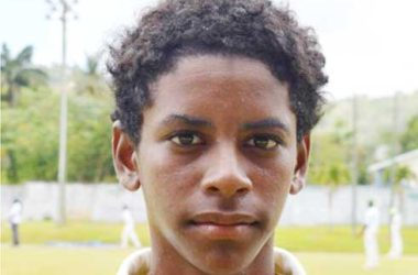 Image: West Indies Under 15 selectee Saint Lucia Ackeem Auguste (Anthony De Beauville)