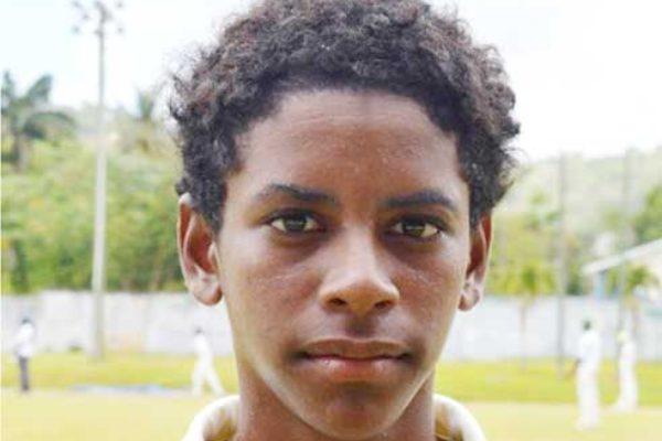 Image: West Indies Under 15 selectee Saint Lucia Ackeem Auguste (Anthony De Beauville)