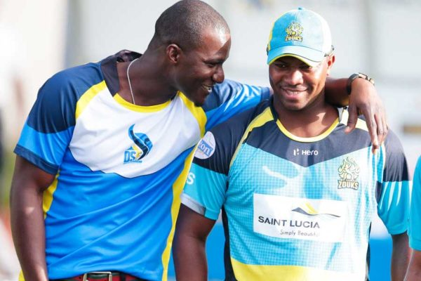Image: (l-r) Saint Lucia Stars Darren Sammy will be up against compatriot Johnson Charles, Jamaica Tallawahs on Saturday 25th (Photo: Getty Images)