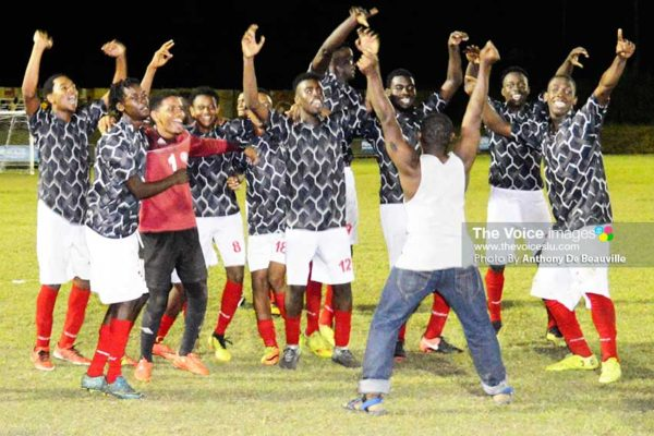 Image of National U20 team celebrating their victory