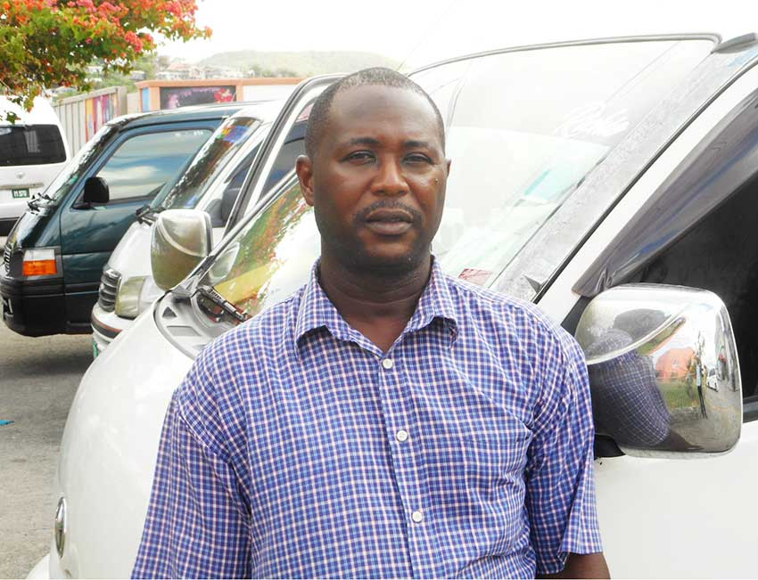 Image of Peter Richard, president of the Mon Repos Minibus Drivers Association