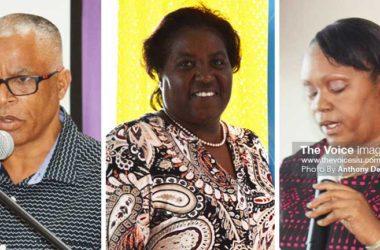 Image: (L-R) SLASA President – Eddie Hazell, Aquatic Development Officer - Yasmin Tyson and SLASA Vice President – Paula James. (PHOTO: Anthony De Beauville)
