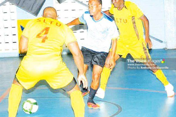 Image: Saint Lucia Teachers Union (SLTU) in action against Unicomer. (PHOTOS: Anthony De Beauville)