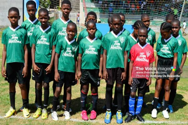 Image: Some of the young aspiring footballers who will be in action today. (PHOTO: Anthony De Beauville)