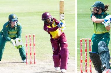 Image: (L-R) Windies, ShemaineCampbelle and South Africa's SuneLuus (Photo: CWI)