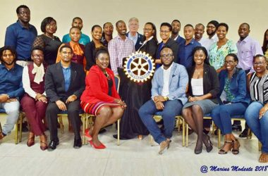 Image: 23 new members were recently inducted into the Rotary Satellite Club of Saint Lucia Sunset
