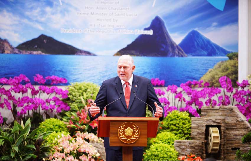 Image of PM Chastanet in Taiwan