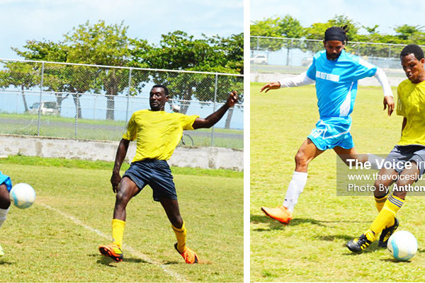 Image: Semifinal action between Gros Islet and LabowieConnextions on Sunday 14th at the Sab Playing Facility (Photo: Anthony De Beauville)