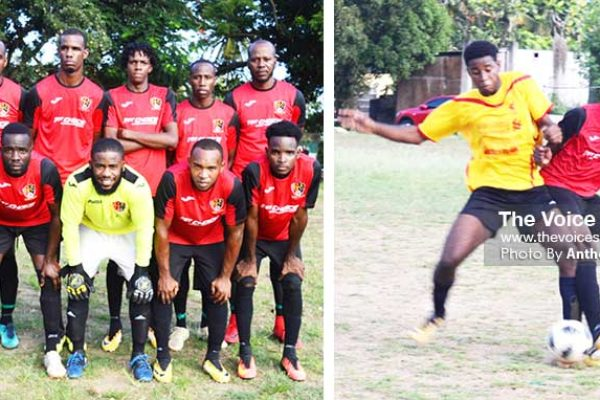 Image: (L-R) TiRocher Football Club awaits the winner of El Nino/Blanchand FC encounter; some of the action between TFC and Green Monsters FC on Sunday 29th September. (PHOTO: Anthony De Beauville)