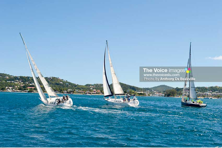 Image: Some of 2017 ARC Flotilla participants sailing the Caribbean Sea enroute to the IGY Rodney Bay Marina (Photo: Anthony De Beauville)