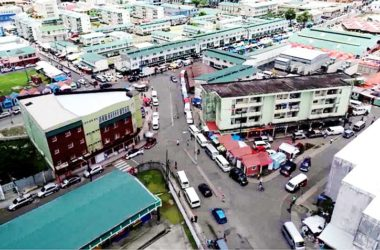 Image of an aerial view of part of the bustling city