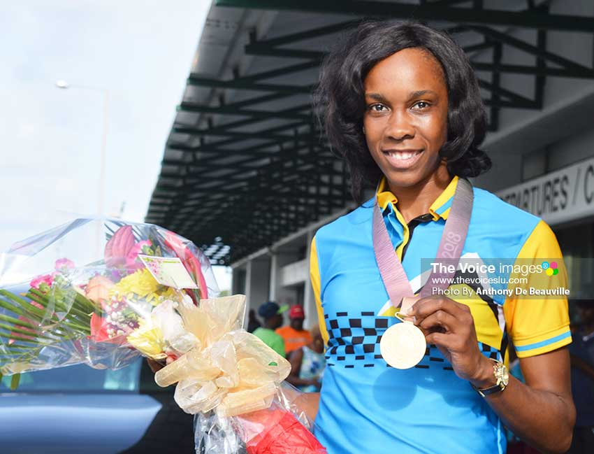 Image of Commonwealth Games 2018 gold medalist, Levern Spencer (Photo: Anthony De Beauville)