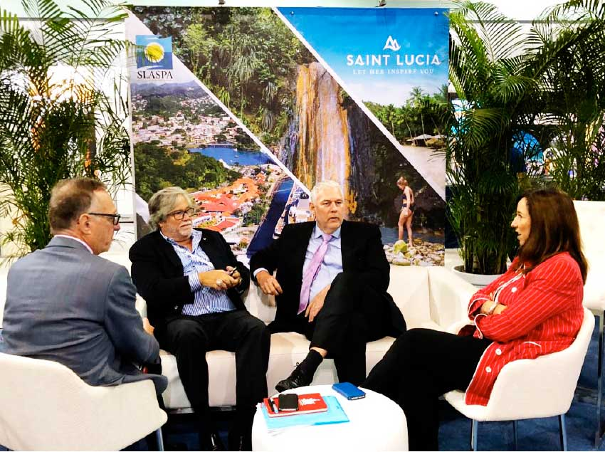 Image: The Prime Minister and FCCA officials in discussion about Saint Lucia's plans for tourism